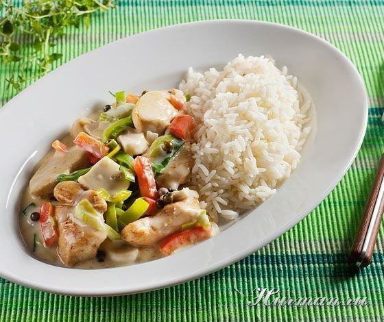 Рис с грибами и овощами курицей рецепт