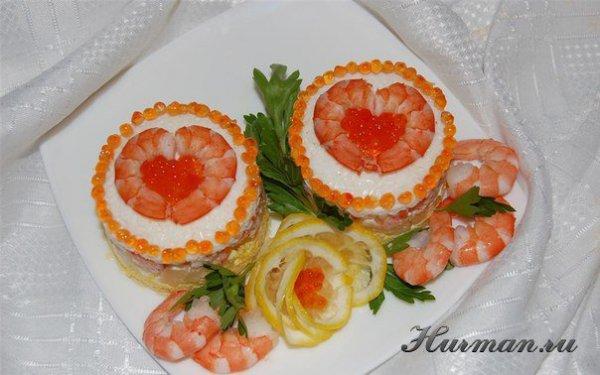 Как красиво уложить на тарелке салат рецепт фото
